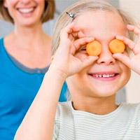 Полезные продукты для зрения детям