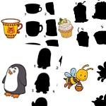 Детские головоломки - Найди тень у картинки