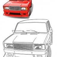 Раскраска Русские машины