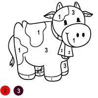 Раскраска по цифрам для детей 4 лет