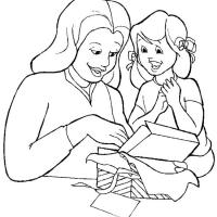 Раскраски Мама и дочка