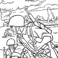 Раскраски военные