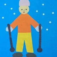Аппликация лыжник