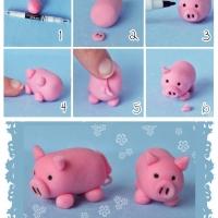 Что можно слепить из розового пластилина