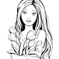 Раскраски Девушка