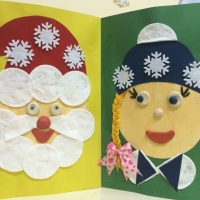 Аппликация дед мороз и снегурочка