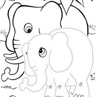 Раскраска по точкам животные