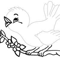Раскраска по точкам птицы