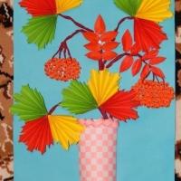 Аппликация на тему осень