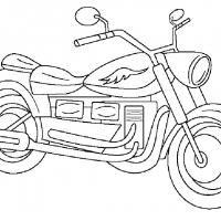 Раскраска мотоцикл