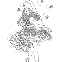 Балерина раскраска