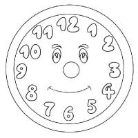 Раскраска Часы