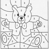 Раскраска по цифрам для детей 3 лет
