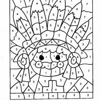 Раскраска по цифрам для детей 9 лет