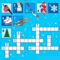 Кроссворды для детей про зиму