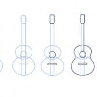 Как нарисовать гитару
