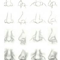 Как нарисовать нос