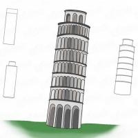 Как нарисовать башню