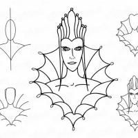 Как нарисовать королеву
