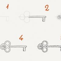 Как нарисовать ключ