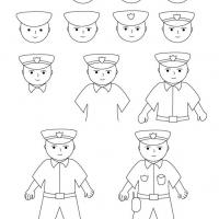 Как нарисовать полицейского