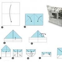 Оригами шляпа