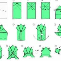 Оригами прыгающие