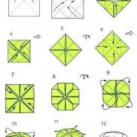 Оригами лотос