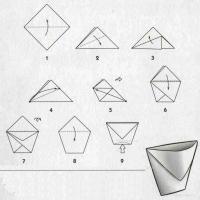 Оригами стаканчик