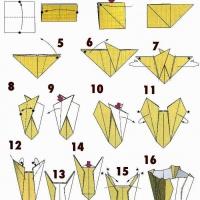 Оригами ваза