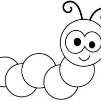 Раскраски Гусеница