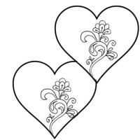 Раскраска С днем Валентина