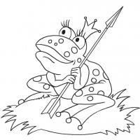 Раскраска Царевна Лягушка