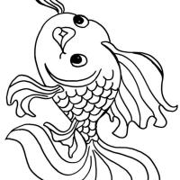 Золотая рыбка раскраска