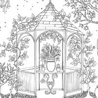 Раскраска Сад