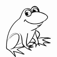 Лягушка раскраска