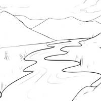 Раскраска Река