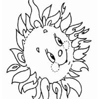 Солнышко раскраска