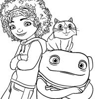 Раскраска из мультфильма Дом