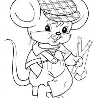Раскраска Мышонок Пик