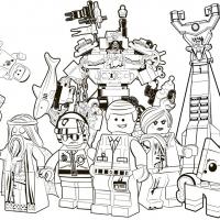 Раскраски Лего Фильм