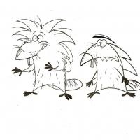 Раскраска Злюки бобры