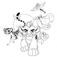 Раскраска Хранитель Лев