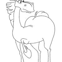 Раскраска Конь Юлий