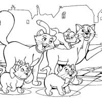 Раскраска Коты Аристократы
