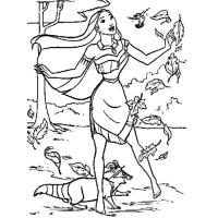 Раскраска Покахонтас