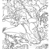 Раскраска Тарзан