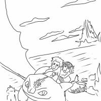 Как приручить дракона раскраска