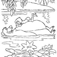 Раскраска Маугли