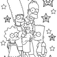 Симпсоны раскраска
